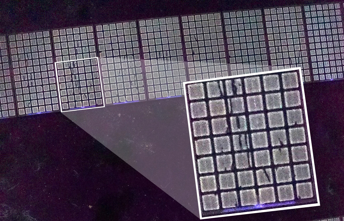 UVF drone imaging of solar panels